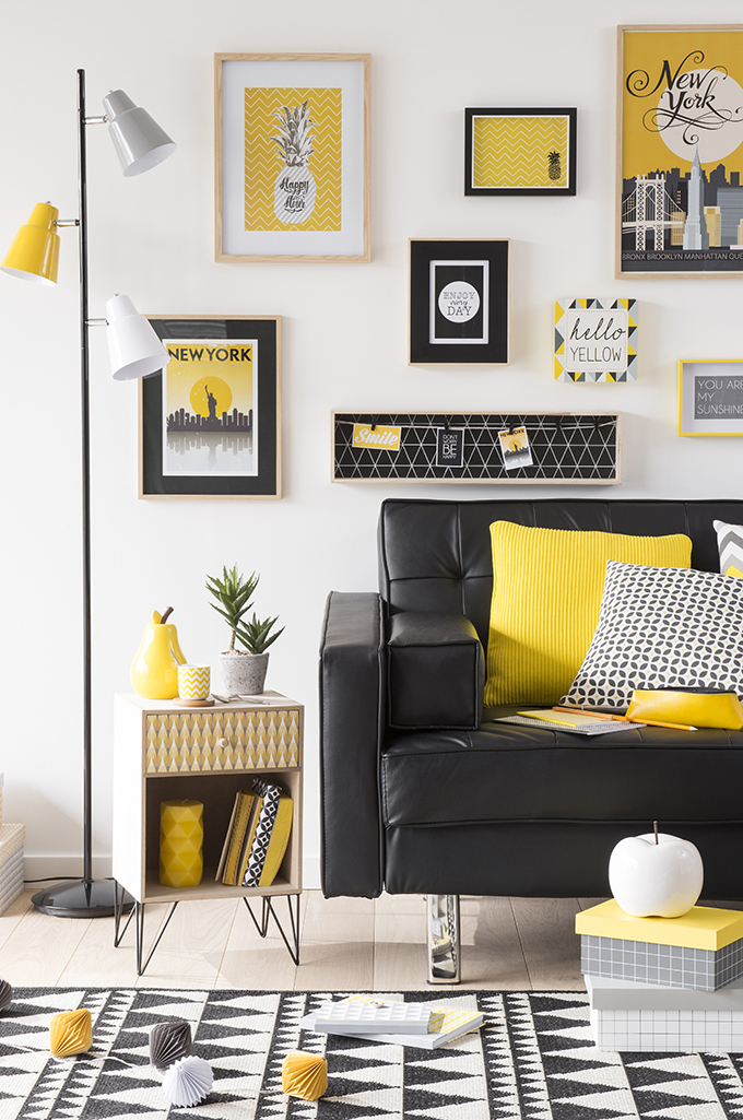 tendance yellow summer chez maisons du monde anything. Black Bedroom Furniture Sets. Home Design Ideas