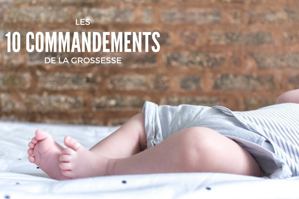 commandements grossesse