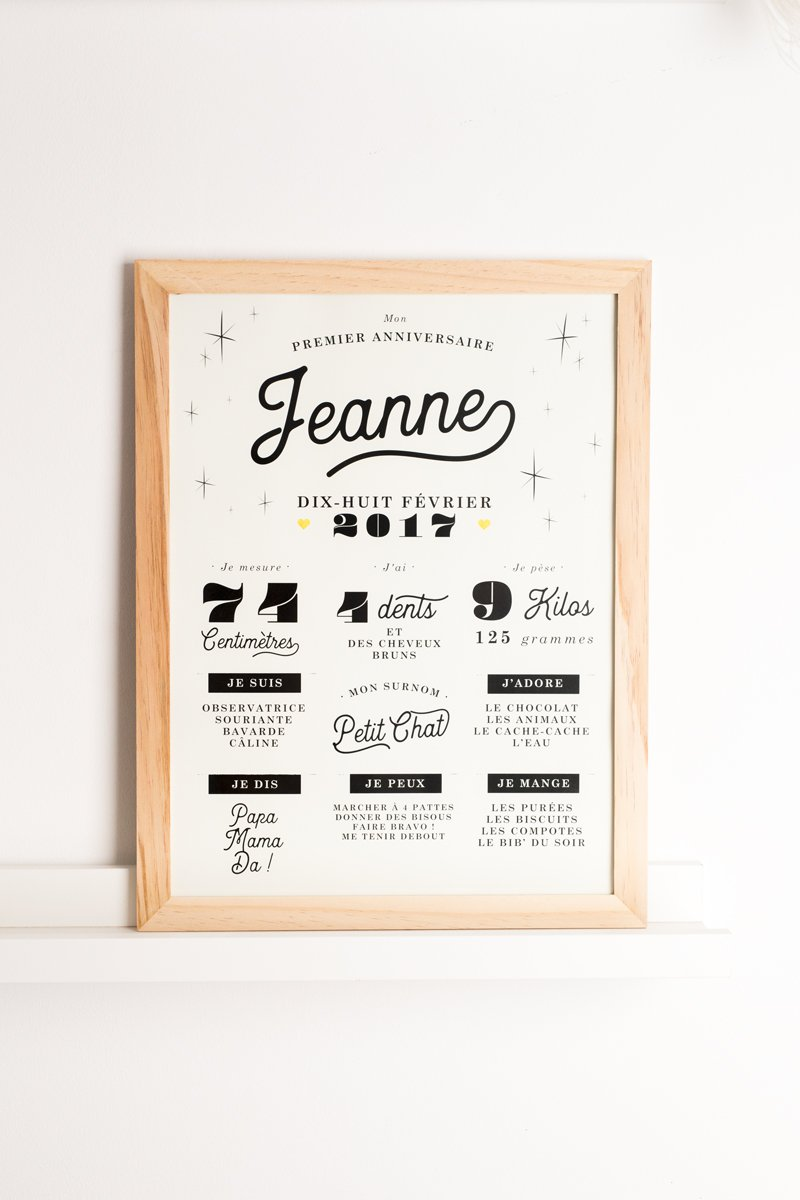 affiche mon premier anniversaire june and jane anything is possible. Black Bedroom Furniture Sets. Home Design Ideas
