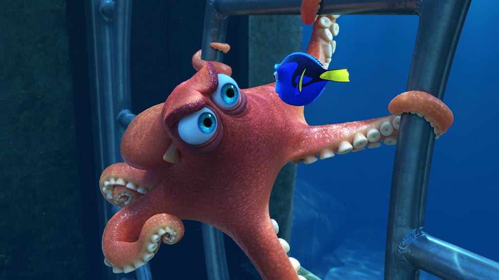 FINDING DORY – Pictured (L-R): Hank and Dory. ©2016 Disney•Pixar. All Rights Reserved.
